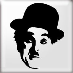 The Stencil Studio - Charlie Chaplin Stencil - Famous Faces - : For Bleach t-shirt project Charlie Chaplin, Face Stencils, Stencil Art, Wall Drawing, Art Drawings, Shetland, Window Graphics, Art Africain, Stencil Patterns