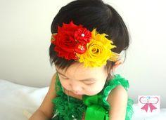 Chinese New Year Headband, Red Money bag charm Baby Girls headband,  Newborn baby girls Headband,  baby headband,. $10.99, via Etsy.