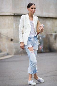diletta bonaiuti look destroyed jeans