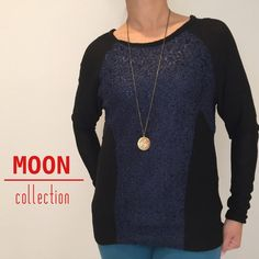 Moon Collection Navy/Black Raglan Sleeve Top Beautiful and cozy raglan sleeve top from Moon Collection. This listing is for a medium. Also available in sizes : small(2), medium(2), and large(1). Moon Collection Tops