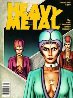 <b>Heavy Metal Magazine Covers</b> from The 1980s
