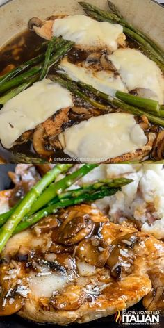 Chicken Madeira Cheesecake Factory, Cheesecake Factory Recipes, Chicken Marsala Recipe Cheesecake Factory, Cheesecake Factory Mashed Potato Recipe, Chicken Asparagus, Asparagus Recipe, Fresh Asparagus, Zucchini Dinner Recipes, Easy Dinner Recipes