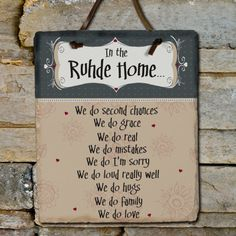 Personalized In Our Home Slate Plaque
