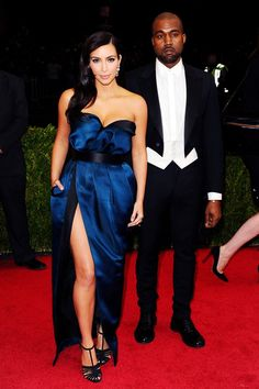 Kim Kardashian and Kanye West were both dressed by Lanvin.