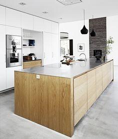 Åbent køkken Kitchen Layout, Kitchen Decor, Kitchen Design, Sweet Home, House Design, Interior Design, Far, Home Decor, Counter