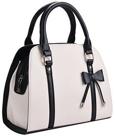 Coofit Lady Handbag Little Bow Leisure Shoulder Bag Purse (Beige) >>> Be sure to check out this awesome product.
