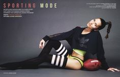 Jovana Prosenik Stars in Design Scene's 'Sporting Mode' Story #athletic trendhunter.com
