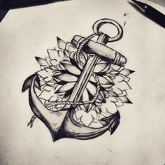I could be doing this to add to my anchor tattoo
