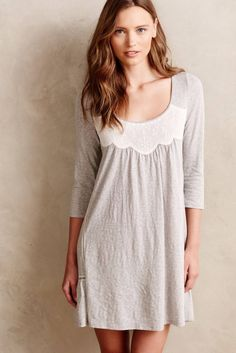 Get ready for bed in this cozy nightgown.