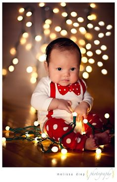 christmas photo idea for baby