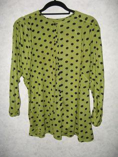 Винтажная женская блузка на пуговицах. от VIRTTARHAR на Etsy