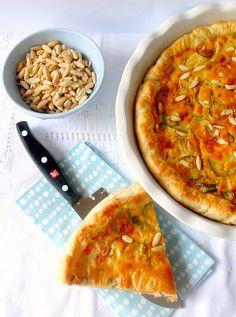 Torta salata di zucchine, zucca e primosale