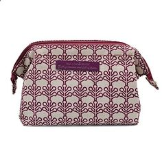 Good Bag Women's Portable Cosmetic Make Up Holder Zipper Wash Bag Travel Case Casual Purse Pouch Handbag Color Purple. View website for more description.