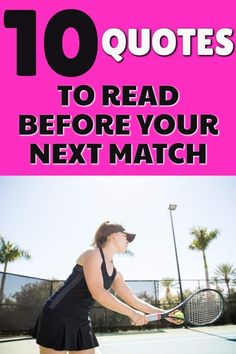 Are you looking to get inspired before you step on to the tennis court? Read these tennis quotes before your next match or tennis practice to get motivated to play your best. Tennis Gear, Tennis Tips, Sport Tennis, Tennis Doubles, Tennis Match, Inspirational Tennis Quotes, How To Play Tennis, Tennis Funny, Tennis Lessons