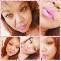 """""""Magenta"""" Lip liner with """"Pink Nuvoue"""" lipstick."""