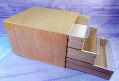DMC Wooden Storage Box Embroidery Floss Thread Crafts 3 Drawers France Vintage #DMC
