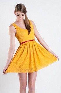 Beautiful Golden Yellow!  Driving Miss Daisy Dress by Audrey 3 + 1