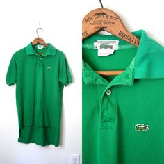 vintage IZOD chemise LACOSTE polo shirt 1980's PREPPY crocodile / alligator $24.00
