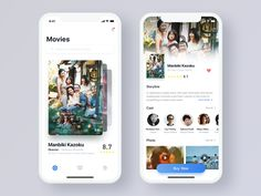 Movie App - App Templates - Ideas of App Templates - I like that there is a unique way of scrolling through these movies. Flat Web Design, Ui Ux Design, Interface Design, User Interface, Website Design Layout, Design Layouts, Website Designs, Web Layout, Ui Design Mobile