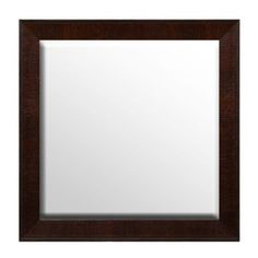 Dark Brown Framed Mirror, 32x32   Kirklands