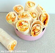My Culinary Curriculum: Wraps crudités et poulet rôti (Raw vegetables and ...
