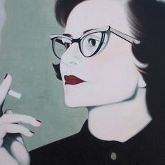 woman smoking painting - Cerca con Google