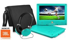 "JBL HARMAN JB902TL Personal DVD Player , 9"", Teal"