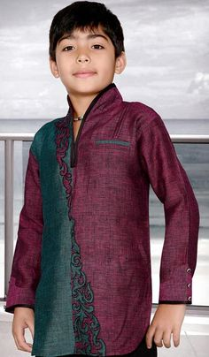 Pathani Kids Eid Kurta Design 2013 Wedding Short Collection  (13)