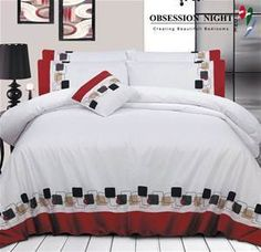 Obsession Night Bed Quilt Cover Set - Queen Size - Design: Breslin