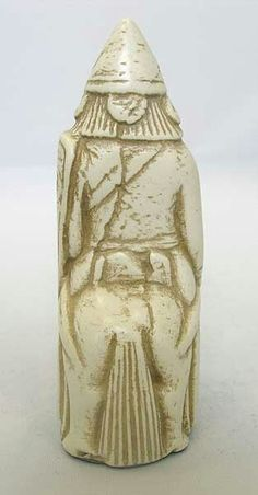 Back of horseman / knight, Lewis chessmen
