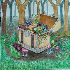 EF Treasure Chest Johanna BasfordColoring BooksPumpkinsBooks