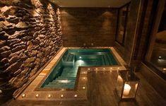 Jacuzzi Room, Indoor Jacuzzi, Indoor Swimming Pools, Lap Pools, Backyard Pools, Pool Decks, Pool Landscaping, Home Spa Room, Spa Rooms