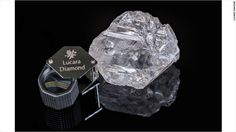 Shares in Lucara (LUCRF) soared 32% after it unveiled a stone of 1,111 carats -- which it says is the biggest gem quality diamond found in more than 100 years. The stock market move added about $150 million to the value of the company. The stone was discovered on Monday and they still don't know how or , to who they will sell it.
