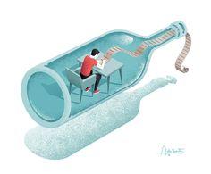 Editorial illustration for Psychologies 4 on Behance