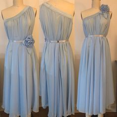 Halter Gown, Chiffon Gown, Burlesque, Chiffon Flowers, Bridesmaid Dresses, Wedding Dresses, Night Gown, Neckline, Gowns