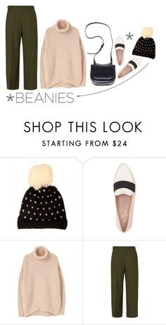"""Bad Hair Day: Beanies"" by ellare88 on Polyvore featuring Miss Pom Pom, Kate Spade, MANGO, Maison Margiela, The Row, classic, simple, pastel, beanies and minimalism"
