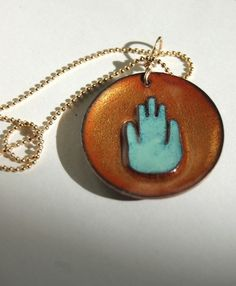Shoply.com -Enamel Jewelry - Hamsa Hand Necklace. Only $68.00