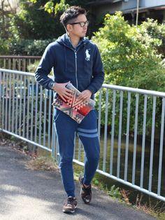 ken_navyさんのクラッチバッグ「KENVY kyoto 」を使ったコーディネート