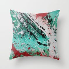 Green Deco 3.1 Throw Pillow by Ian_Spicer_Art. Worldwide shipping available at Society6.com. Just one of millions of high quality products available.