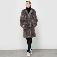 Faux Fur Coat LOUIS GABRIEL NOUCHI X LA REDOUTE MADAME