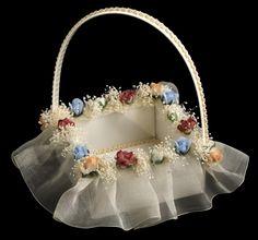 Cesta de novia para anillos o arras Coraçao.Miss Complementos de Novia