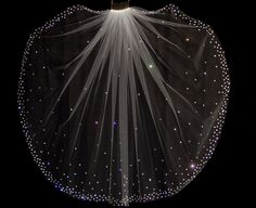 Bridal Veil with Crystal Edge and Scattered Crystals by pureblooms, $165.00