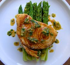 Pan Grilled Asparagus With Lemon Shallot Vinaigrette Recipes ...