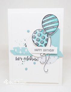 Balloon Adventures, Swirly Bird, birthday, stampin up