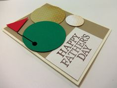 Stampin' Up Handmade Father's Day Card with Golf by donnainksLa, $4.00