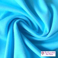 Jersey Interlock bleu Turquoise coton