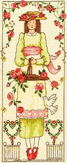 Country Lass - Rose - Bothy Threads Cross Stitch Kit