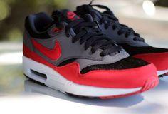 Nike Air Max 1 Black Anthracite-Red Nike Air Max 2012 7af6b6ed9