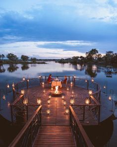 Experience and create the ultimate African romantic night the same way Craig had with a view of Zambezi River at the Thorntree River Lodge! Romantic Dinner Tables, Romantic Dinner Setting, Romantic Night, Romantic Places, Romantic Dinners, Romantic Couples, Beautiful Places, Romantic Resorts, Romantic Ideas