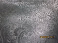 Special Occasion Silver on White Fabric, New by WhimseysByAnne, $21.00